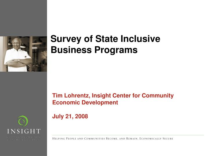 survey of state inclusive business programs n.
