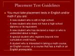 placement test guidelines