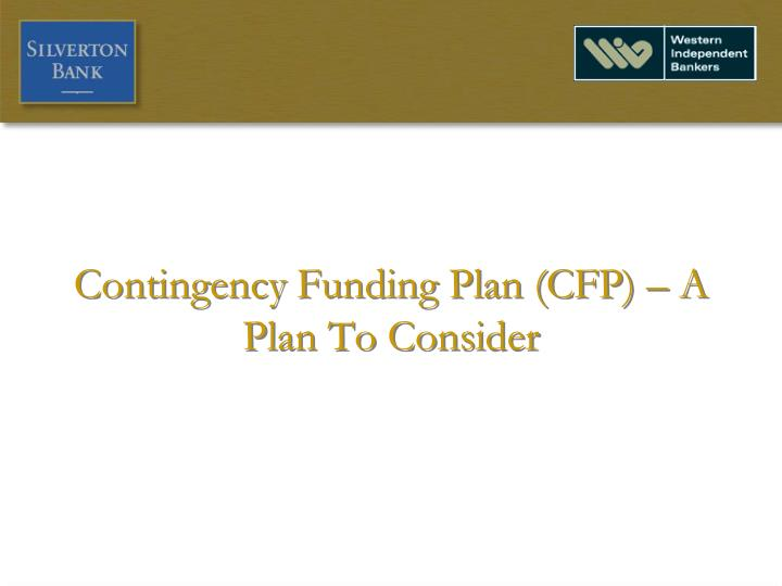 Fine Contingency Funding Plan Template Photos - Example Resume ...