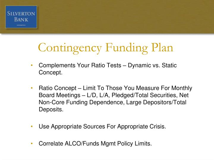 PPT - Contingency Funding Plan (CFP) – A Plan To Consider ...