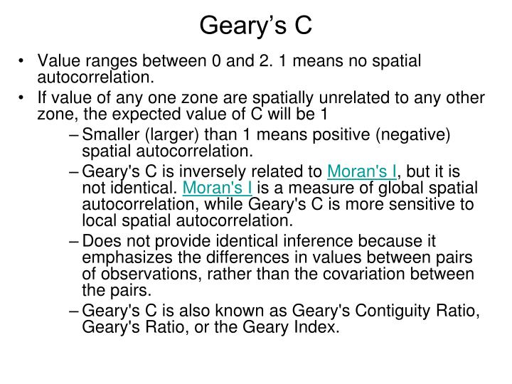 Geary's C