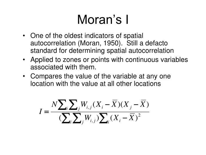 Moran's I