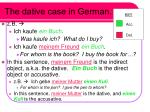 the dative case in german
