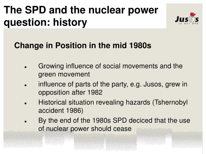 The SPD and the nuclear power question: history