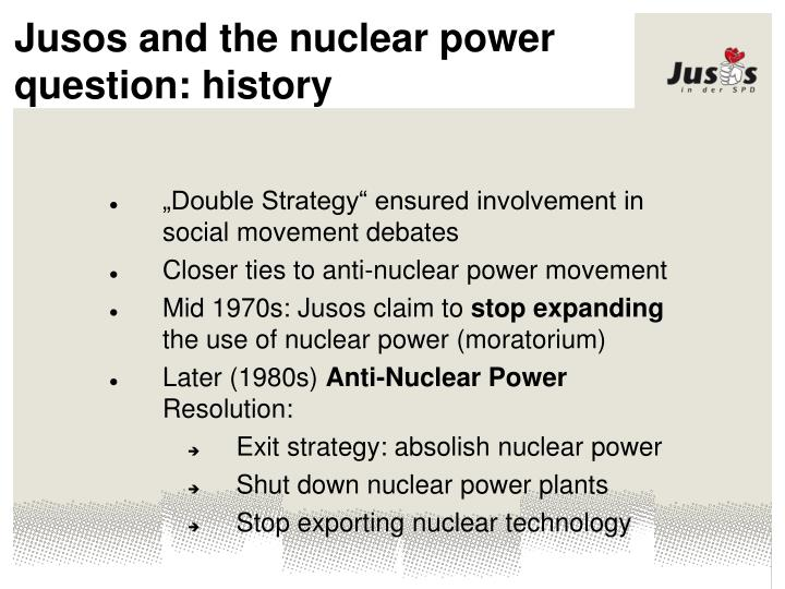 Jusos and the nuclear power question: history