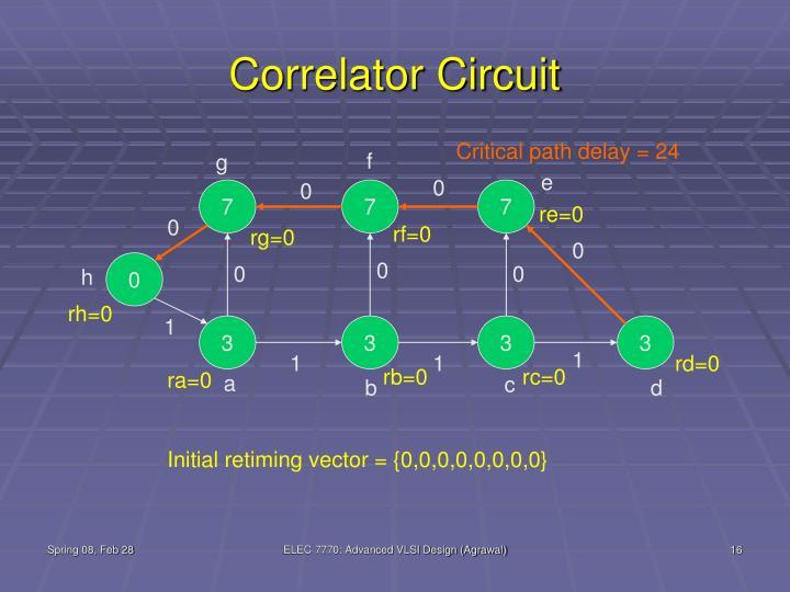 Correlator Circuit