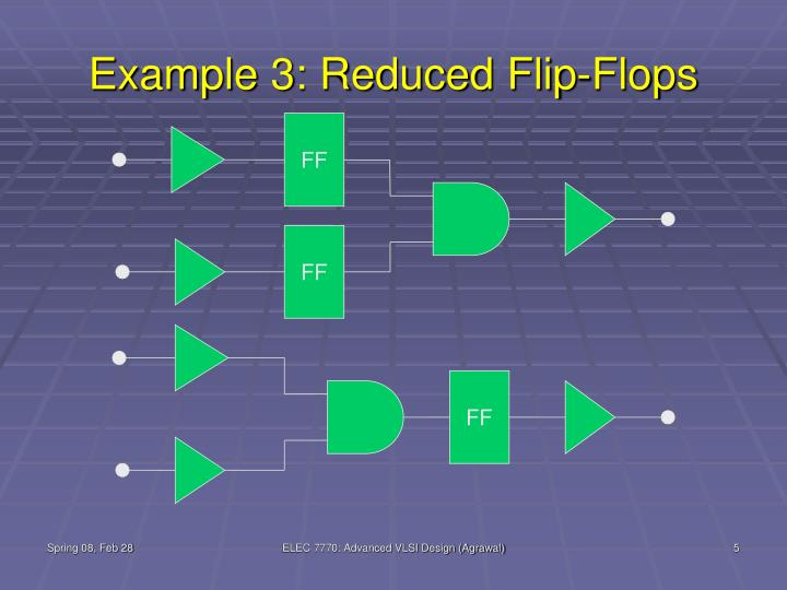 Example 3: Reduced Flip-Flops