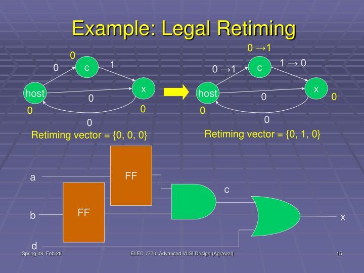 Example: Legal Retiming
