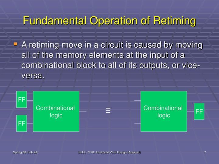 Fundamental Operation of Retiming