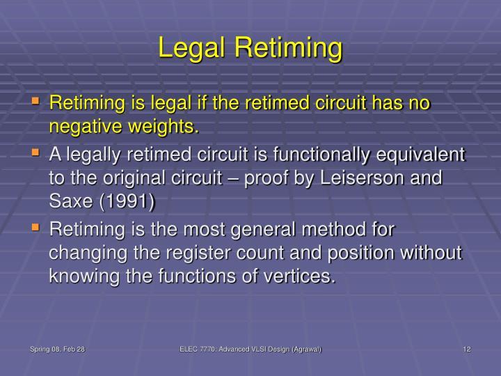 Legal Retiming