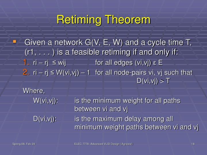 Retiming Theorem