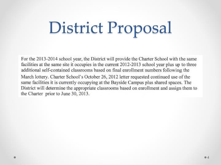 District Proposal