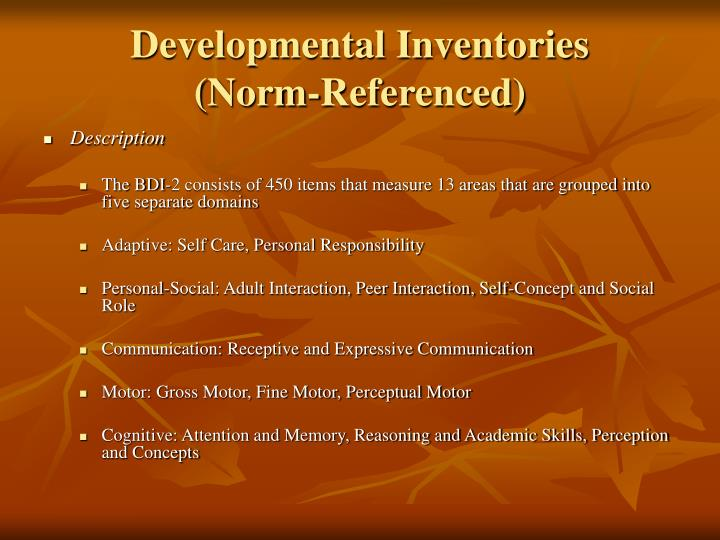 Developmental Inventories