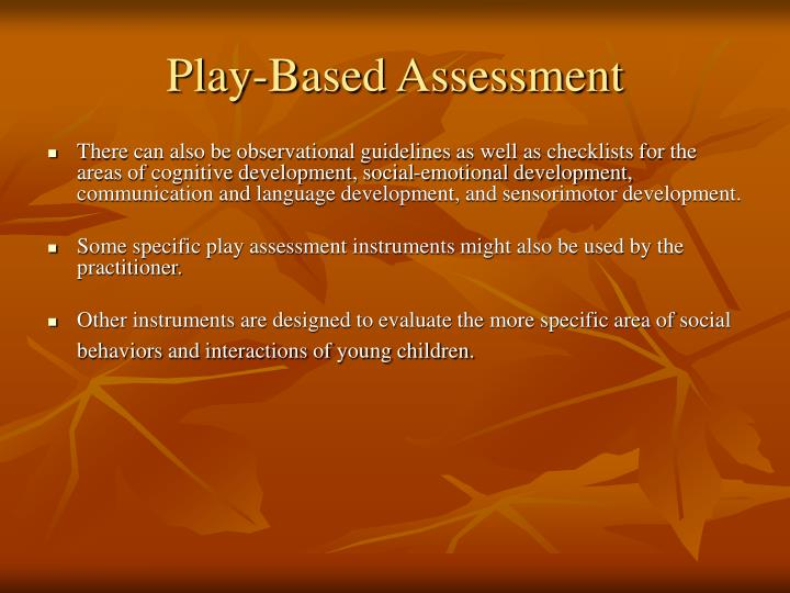 Play-Based Assessment