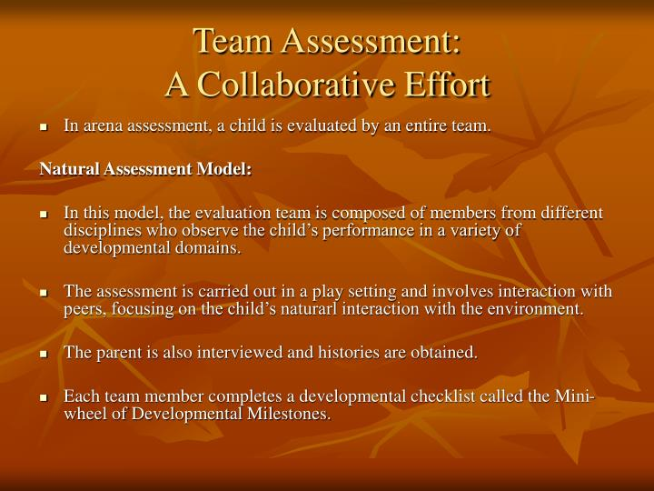 Team Assessment: