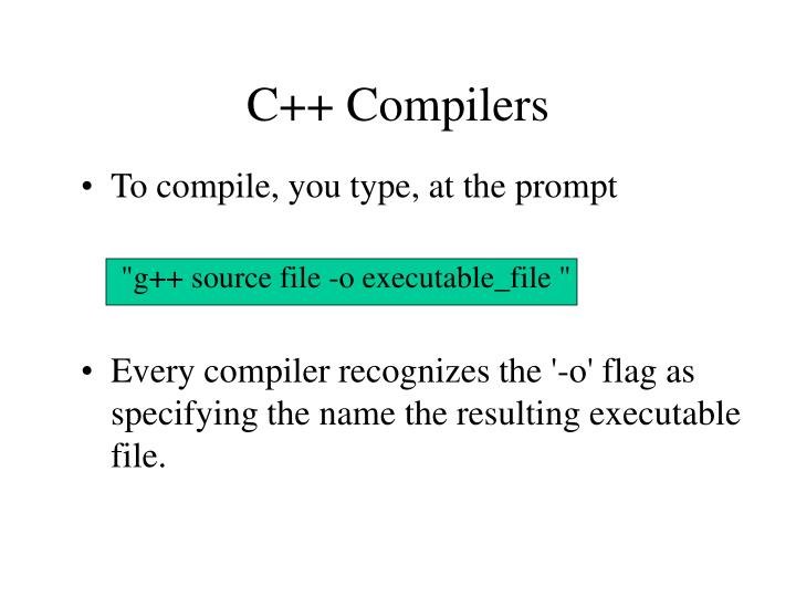 C++ Compilers