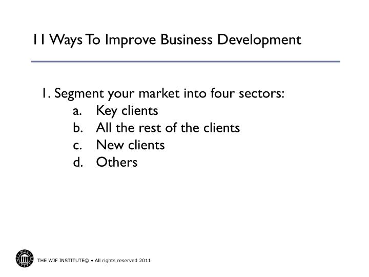 11 ways to improve business development1