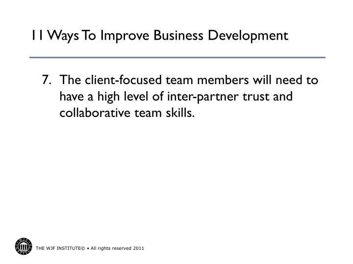 11 Ways To Improve Business Development