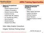 arra training opportunities