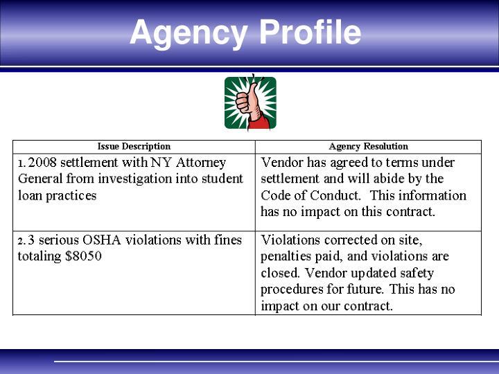 Agency Profile