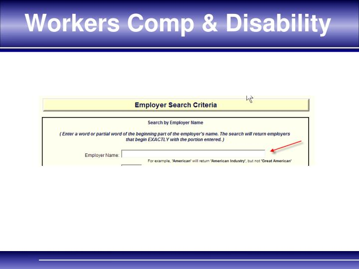 Workers Comp & Disability