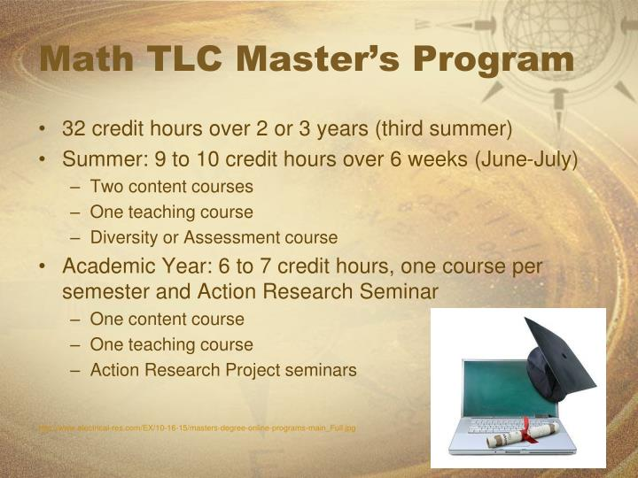 Math TLC Master's Program