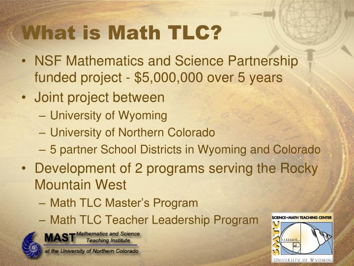 What is Math TLC?