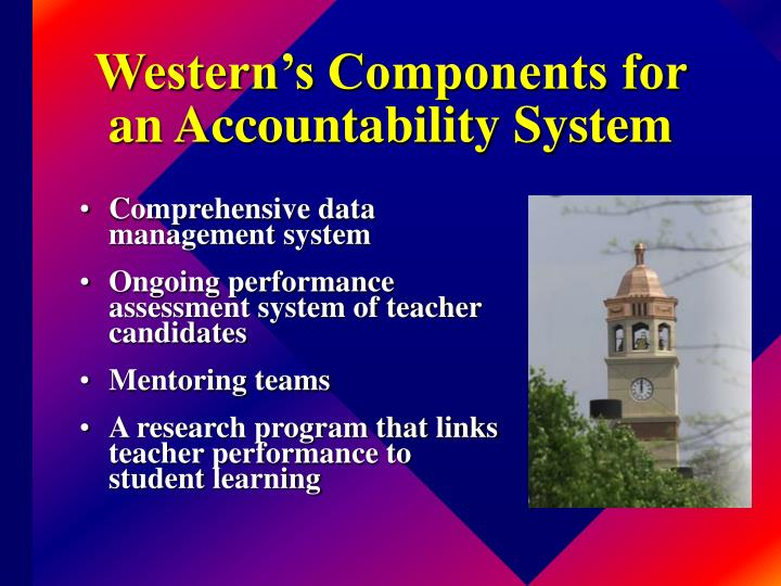 Western's Components for an Accountability System