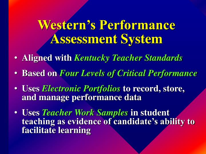 Western's Performance Assessment System