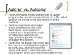 autorun vs autoplay