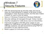 windows 7 security features