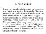 tagged values