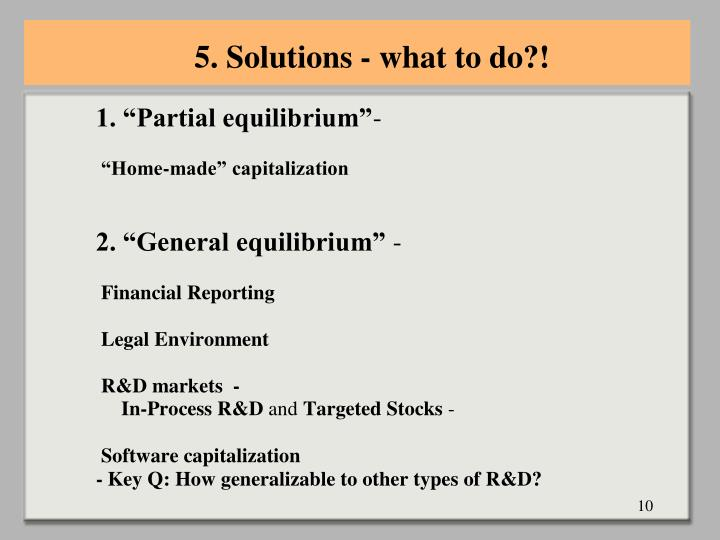 5. Solutions - what to do?!