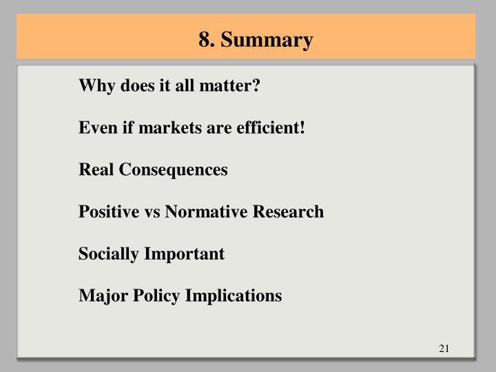 8. Summary