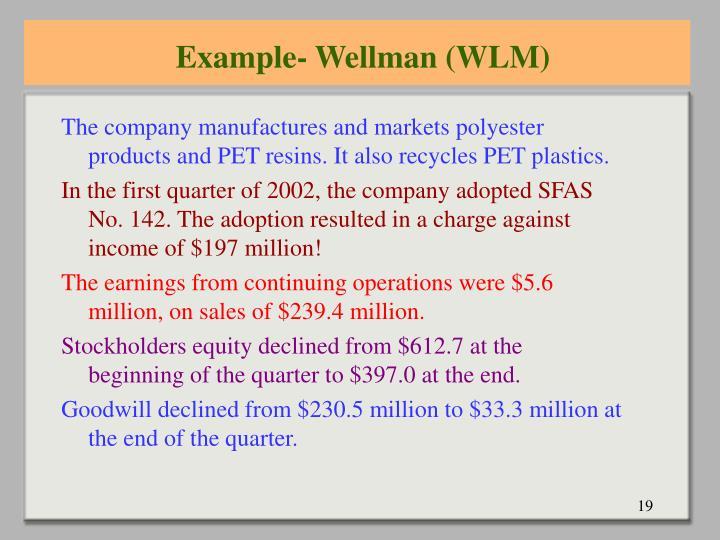 Example- Wellman (WLM)