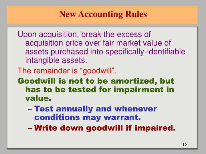 New Accounting Rules