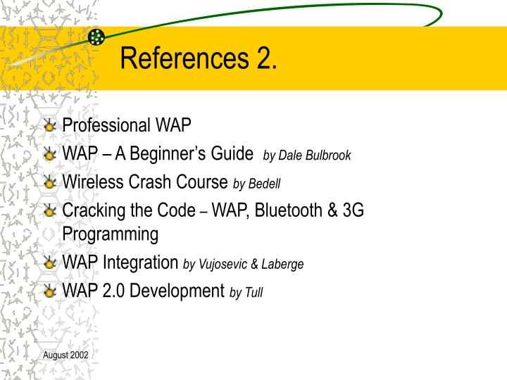 References 2.