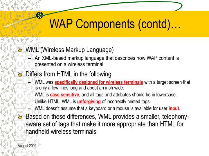 WAP Components (contd)…