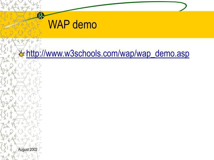 WAP demo