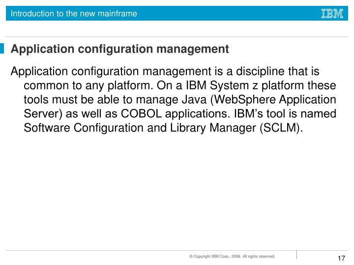 Application configuration management
