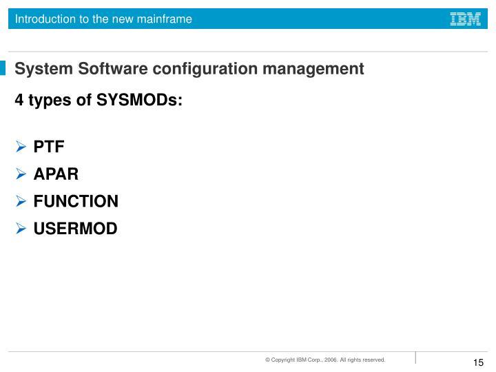 System Software configuration management