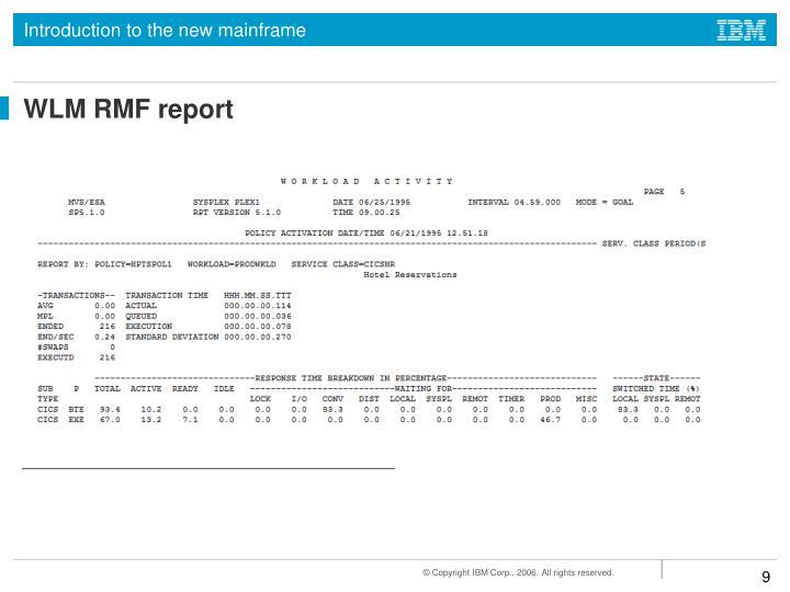 WLM RMF report