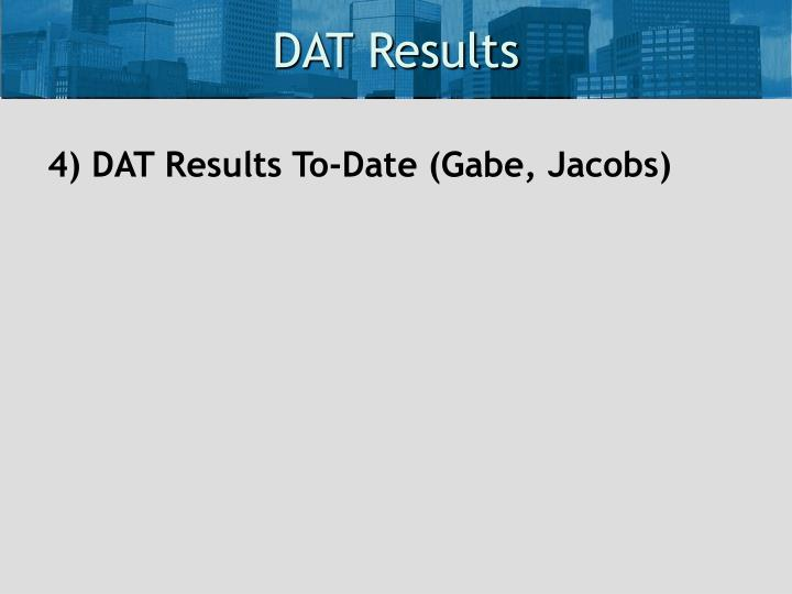 DAT Results