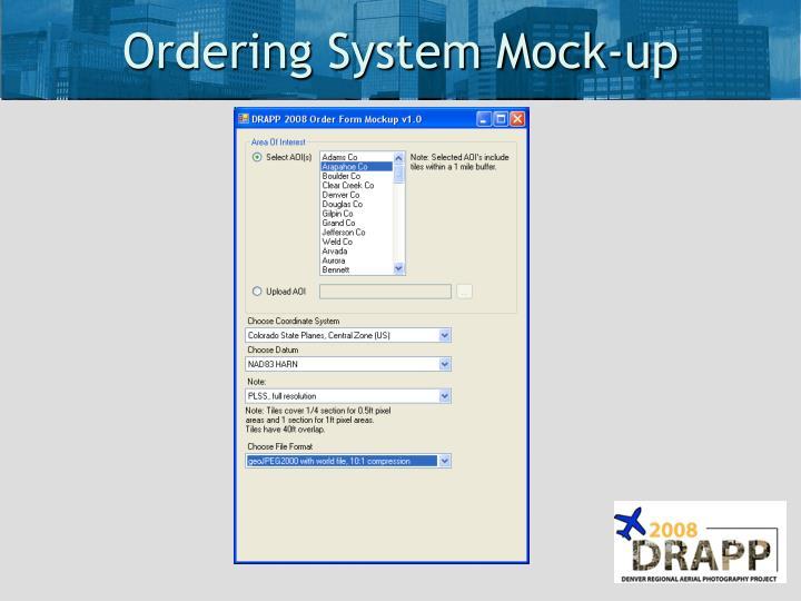 Ordering System Mock-up