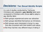 decisions two sexual identity scripts5