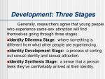 development three stages2