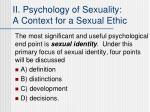 ii psychology of sexuality a context for a sexual ethic1