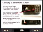 category 2 electrical example