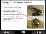 category 3 fasteners example