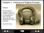 category 4 hoisting and rigging example